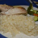 Risotto with chicken and veg, seconds can always be gotten.