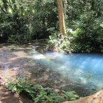Two creeks meet, water turns blue!