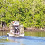 Airboat in the water