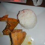 rice & chicken for the sancocho