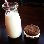 Cookie sandwich with local Hudson Valley Milk