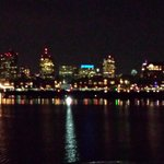 Boston Skyline at night from the Odyssey