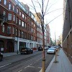Vista de uma das Ruas próximo ao Hotel
