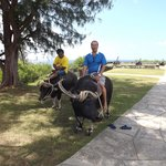 My second carabao ride since I was 9 years old...haha