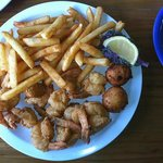 Dock Side Grilled Shrimp Plate with Fries