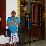 Champasak Palace Hotel restaurant entrance