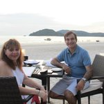 Mario and Silvana at dinner