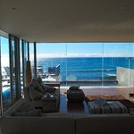 Living area looking out to stunning view