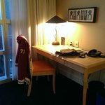 Work area in our room.