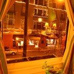Beautiful windows, nice street view
