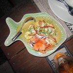Big prawns in red curry