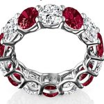 Beautiful and rare Diamond and Ruby Eternity Ring