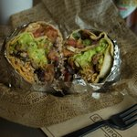 Beef and brown rice Burrito