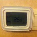 A days lowest room temperature (with open windows).
