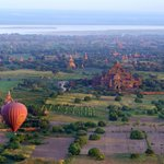 Temples of Bagan from Balloon Flight