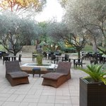 giardino dell'hotel Les Printanieres