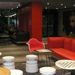 Funky reception area