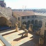 Vista la interior del Castillo desde la almena