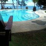 Pool fronting the ocean