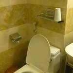 toilet, with complimentary toiletries