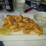 Fried calamari with tartar sauce
