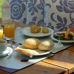 deck donde desayunabamos, excelente!!