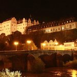 Schlosshotel bei Nacht