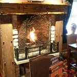 dinner in front of a roaring fire on a cold winter day@ the coaching halt