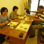 Breakfast prepared by the Uno Bali Inn