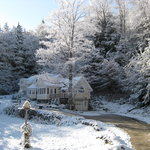 Winter has begun at our Mountain Valley Retreat