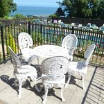 Enjoy Afternoon Tea Outdoors with Sunning Pool & SeaViews at Luccombe Manor Country House Hotel