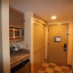 Fridge, microwave in rooms