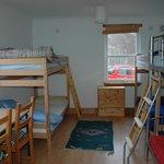 the hostel bunk room