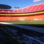 On the field at Arrowhead