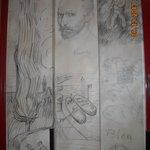 VanGogh on Elevator Door, Hotel Des Arts, Montmartre