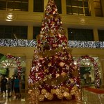 The lobby of the Peninsula at Christmas time