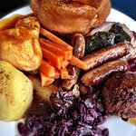 My lamb roast dinner from the carvery.