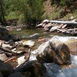 Elk creek runs thru the campground