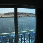 Our view from our room on the Nile cruise