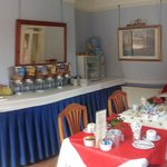 panoramic view of the breakfast room