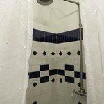 Der Blick in die Dusche