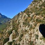 Ombre de la Montgolfière sur la chaine du Pedraforca