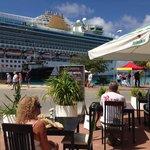 Mooi uitzicht als er cruiseboten zijn