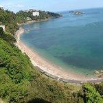 Meadfoot beach and The Osborne