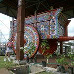 The largest ox cart in the world in the town center