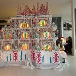 stunning gingerbread house in the lobby.
