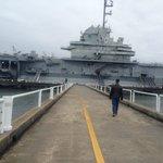 Walkway to USS Yorktown