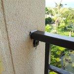 Balcony rail bar loose