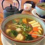 Vege-Tofu Curry soup