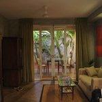 The spacious Garden Suite